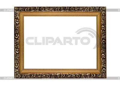 Horizontal golden Frame for picture or portrait | High resolution stock photo |ID 3292985