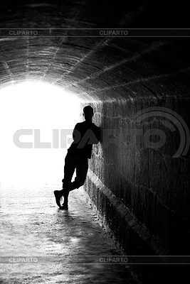 Human silhouette in back lighting | High resolution stock photo |ID 3292986