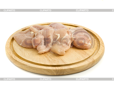 Raw Chicken fillet on hardboard | High resolution stock photo |ID 3293066