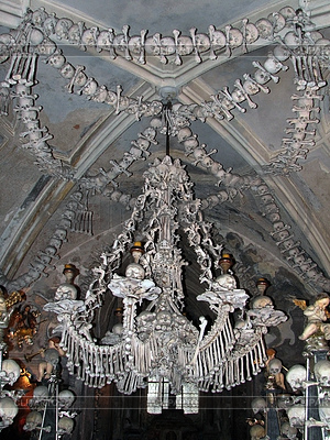 Chandelier made of human bones | High resolution stock photo |ID 3293179