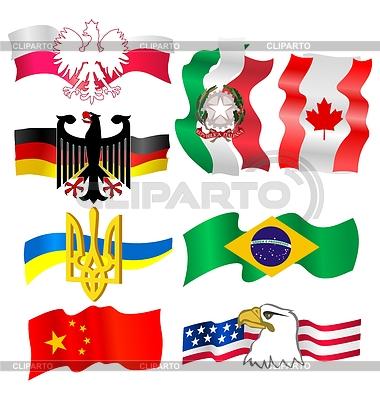 Zestaw - symbole różnych krajach | Klipart wektorowy |ID 3234865