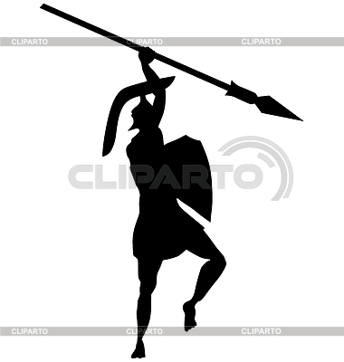 Antiker griechischer Krieger | Stock Vektorgrafik |ID 3235913