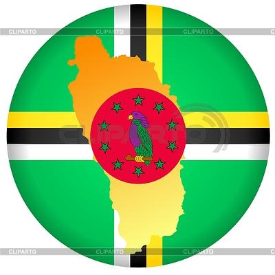 在多米尼加的颜色标志按钮 | 向量插图 |ID 3247626
