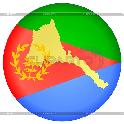 Flag button in colours of Eritrea | 向量插图 |ID 3247630