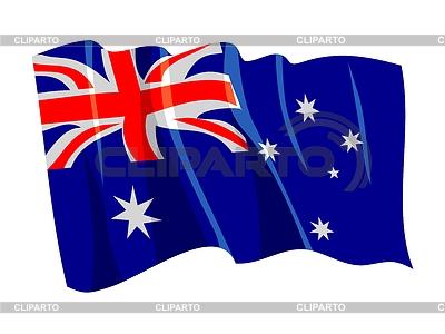 挥舞着澳大利亚国旗 | 向量插图 |ID 3248122