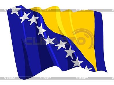 Macha Flaga Bośni i Hercegowiny | Klipart wektorowy |ID 3250495