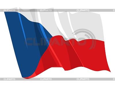 Waving flag of Czech Republic | Stock Vector Graphics |ID 3250541