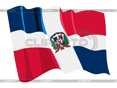 Waving flag of Dominican Republic | Stock Vector Graphics |ID 3250549