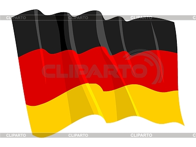Macha banderą Niemiec | Klipart wektorowy |ID 3250711