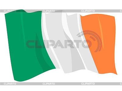 Waving flag of Ireland Republic | Stock Vector Graphics |ID 3250785