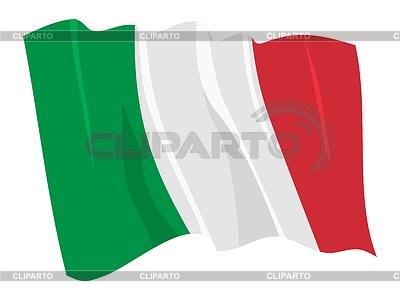 Wehende Flagge von Italien | Stock Vektorgrafik |ID 3250789