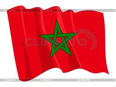 Wehende Flagge von Marokko | Stock Vektorgrafik |ID 3250873