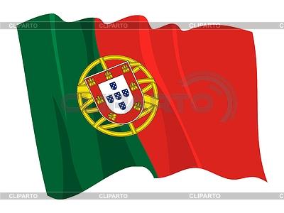 Wehende Flagge von Portugal | Stock Vektorgrafik |ID 3250925