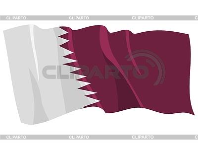Wehende Flagge von Katar | Stock Vektorgrafik |ID 3250927