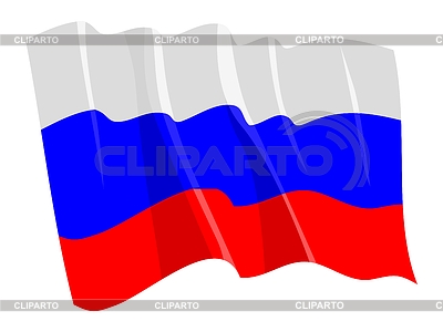Waving flag of Russia | Stock Vector Graphics |ID 3250931