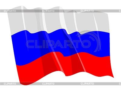 Wehende Flagge von Russland | Stock Vektorgrafik |ID 3250931