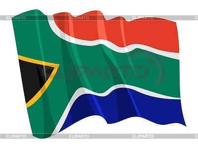 挥舞着南非国旗 | 向量插图 |ID 3250969