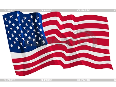 Wehende Flagge von USA | Stock Vektorgrafik |ID 3251015