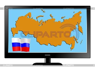 俄罗斯电视上 | 向量插图 |ID 3251749