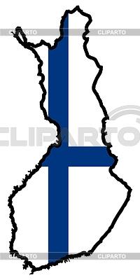 在芬兰的颜色地图   向量插图  ID 3257256