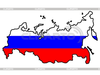 Map in colors of Russia | Stock Vector Graphics |ID 3257298