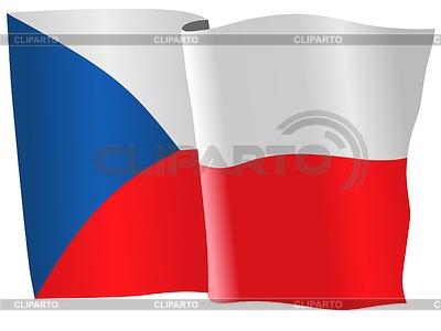 Waving flag of Czech Republic | Stock Vector Graphics |ID 3257749