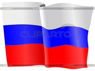 Waving flag of Russia | Stock Vector Graphics |ID 3258057