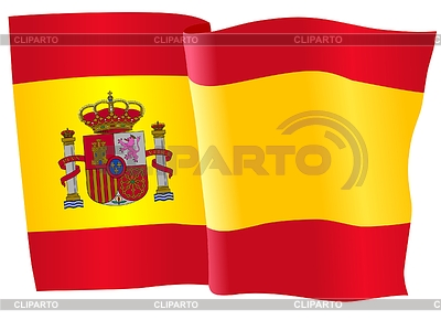 Waving flag of Spain   Stock Vector Graphics  ID 3258091