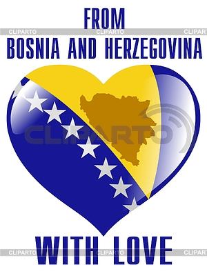 From Bosnia and Herzegovina with love | Stock Vector Graphics |ID 3266029