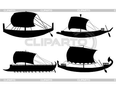 Ancient sail boats   Stock Vector Graphics  ID 3305747
