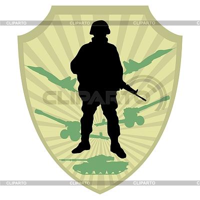 Silhouette von Soldaten | Stock Vektorgrafik |ID 3337563