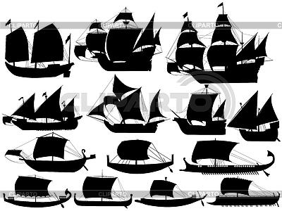 고대 항해 보트 | 벡터 클립 아트 |ID 3338256