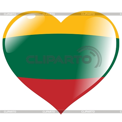 Heart with flag Lithuania | Stock Vector Graphics |ID 3353100