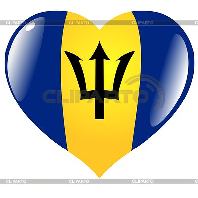 Heart with flag of Barbados   Stock Vector Graphics  ID 3353294
