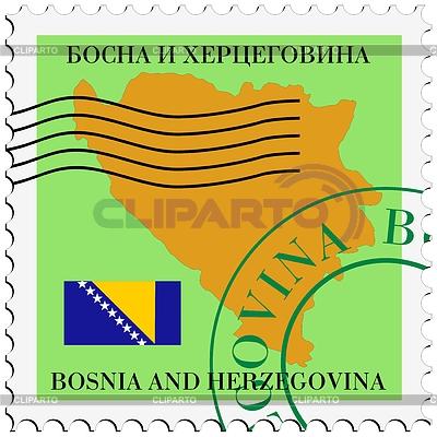 메일 -에서 보스니아 헤르체고비나   벡터 클립 아트  ID 3364999