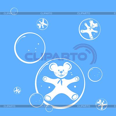 거품과 마우스 패턴   벡터 클립 아트  ID 3248071