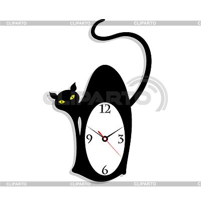 Clock cat | Stock Vector Graphics |ID 3257558