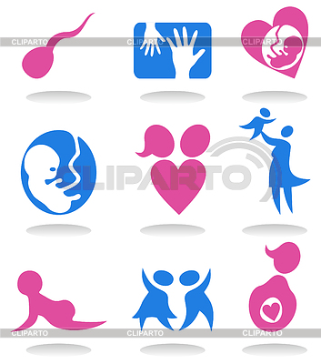 Pregnancy icons | Stock Vector Graphics |ID 3259677