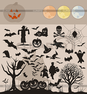 Halloween Collection | Stock Vector Graphics |ID 3259923