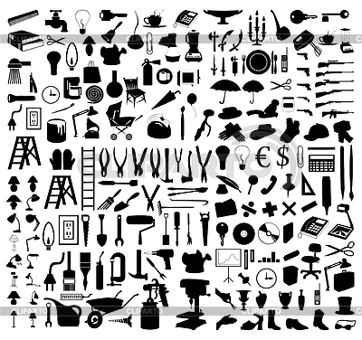 Collection of subject silhouettes | Stock Vector Graphics |ID 3259927