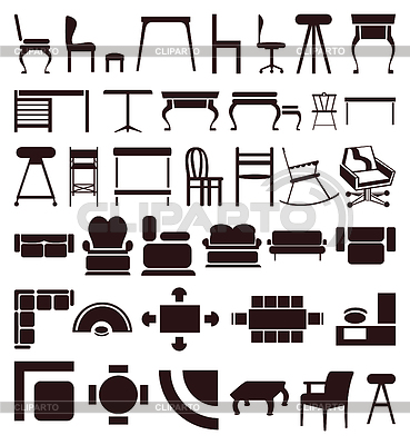 Furniture icons | Stock Vector Graphics |ID 3260073