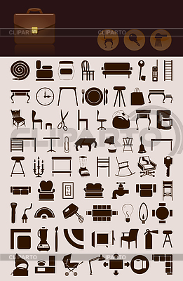 Household icons | Stock Vector Graphics |ID 3260131