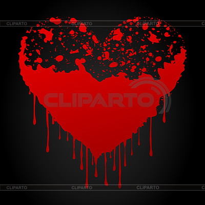 Bloody heart | Stock Vector Graphics |ID 3260799