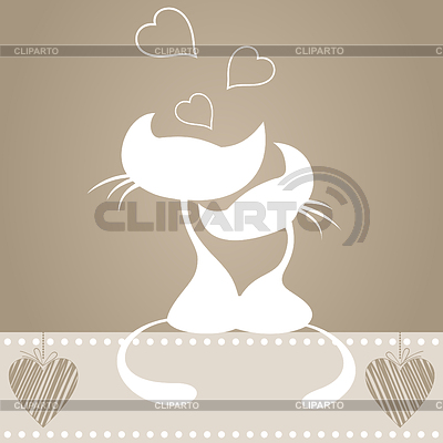 Verliebte Katzen | Stock Vektorgrafik |ID 3260955