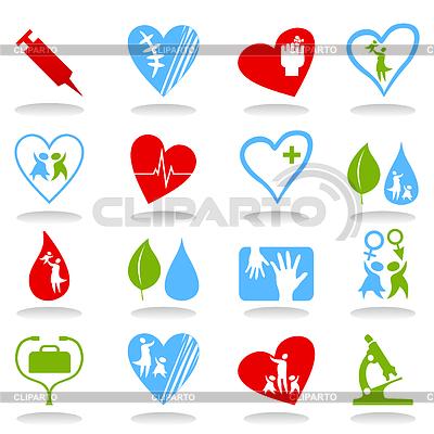 Ikony medyczne | Klipart wektorowy |ID 3261129