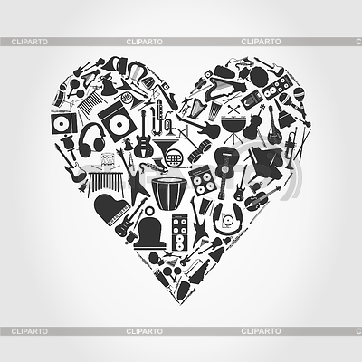 Musical heart | Stock Vector Graphics |ID 3261277