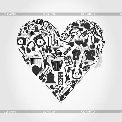 Musical serce | Klipart wektorowy |ID 3261277