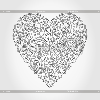 Musical heart | Stock Vector Graphics |ID 3261279