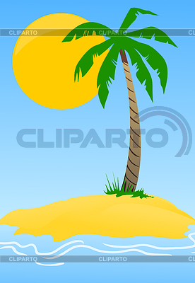 Island with palm tree | Stock Vector Graphics |ID 3261893