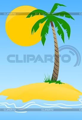 Wyspa z palmy | Klipart wektorowy |ID 3261893